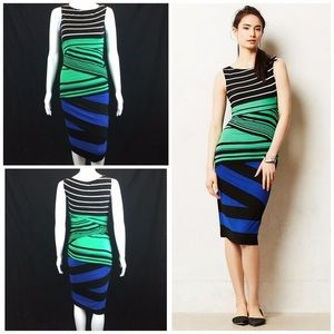 Anthropologie Bailey 44 Striped Bandage Dress